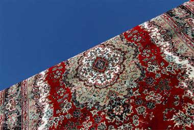 قالیشویی درمنطقه سبلان