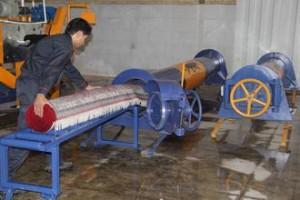 آبگیری فرش به وسیله دستگاه آبگیر